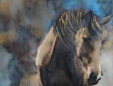 Equine Painting, by Watercolor Artist Penny Winn