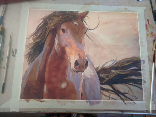 Equine Painting by Penny Winn